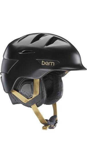 Bern Hepburn Satin Black w/ Black Liner